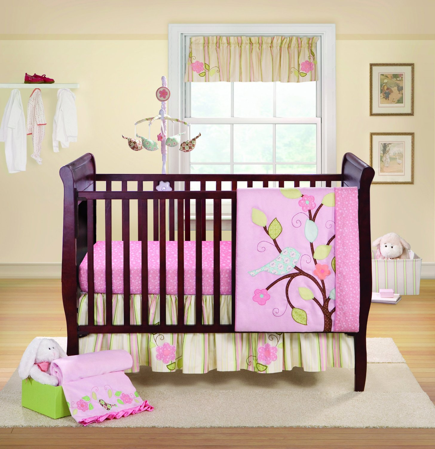 Bananafish love bird crib bedding and decor baby bedding Baby girl bedding