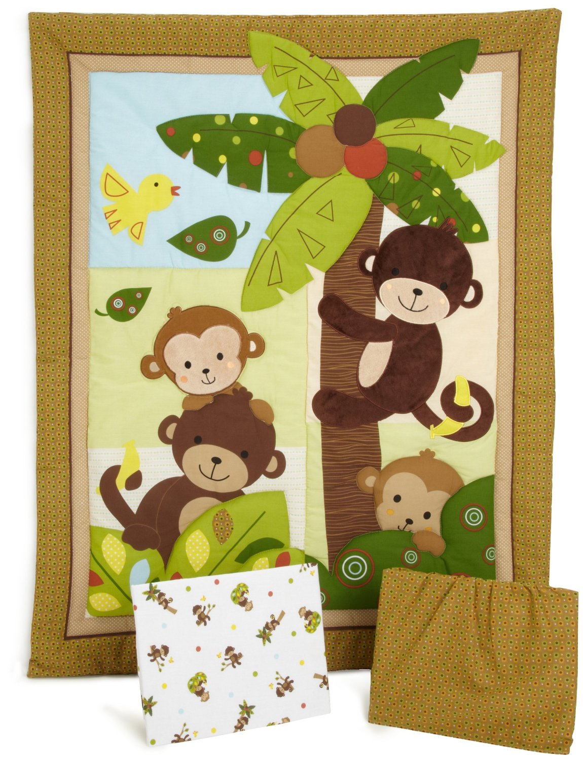 Bedtime Originals Curly Tails, Monkey Baby Bedding and Accessories ...