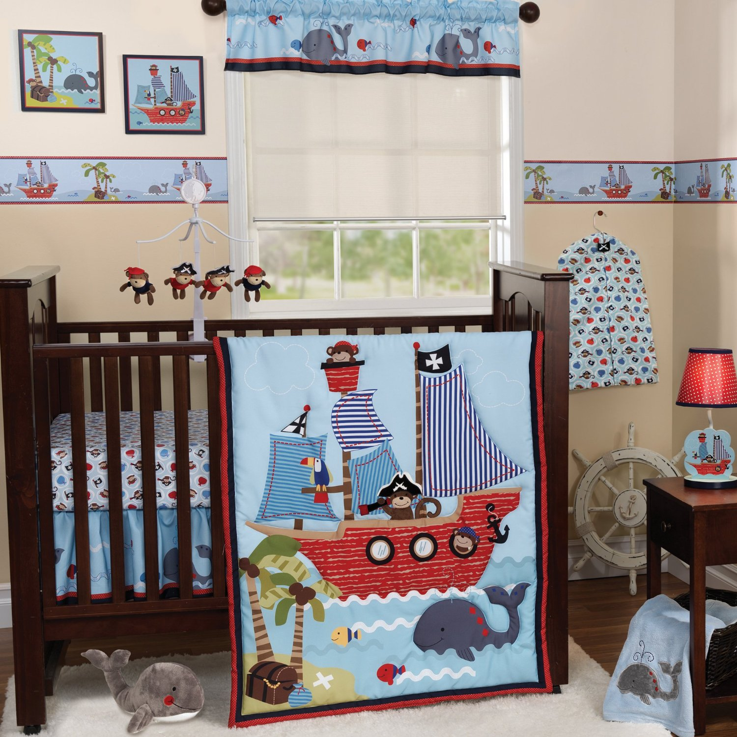Bedtime originals treasure island collection baby for Fabric for boys room