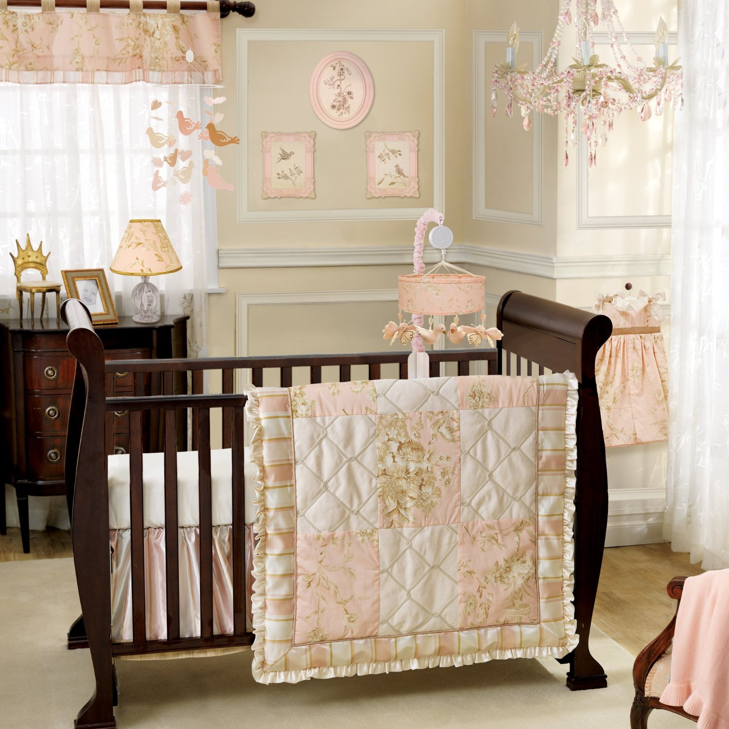 A Little Princess Nursery Design: Lambs And Ivy Little Princess Nursery Decor And Bedding