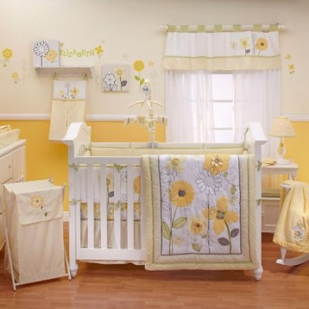 Nojo Bright Blossoms Crib Bedding