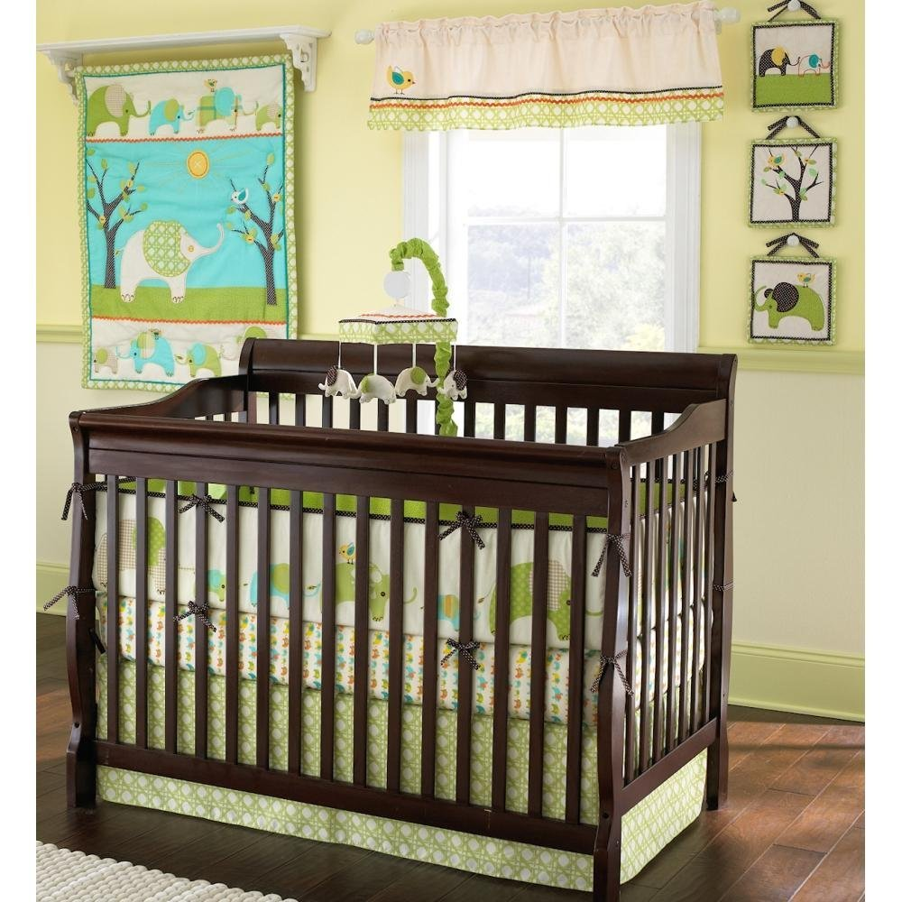 Laura Ashley Elephant Parade Crib Bedding