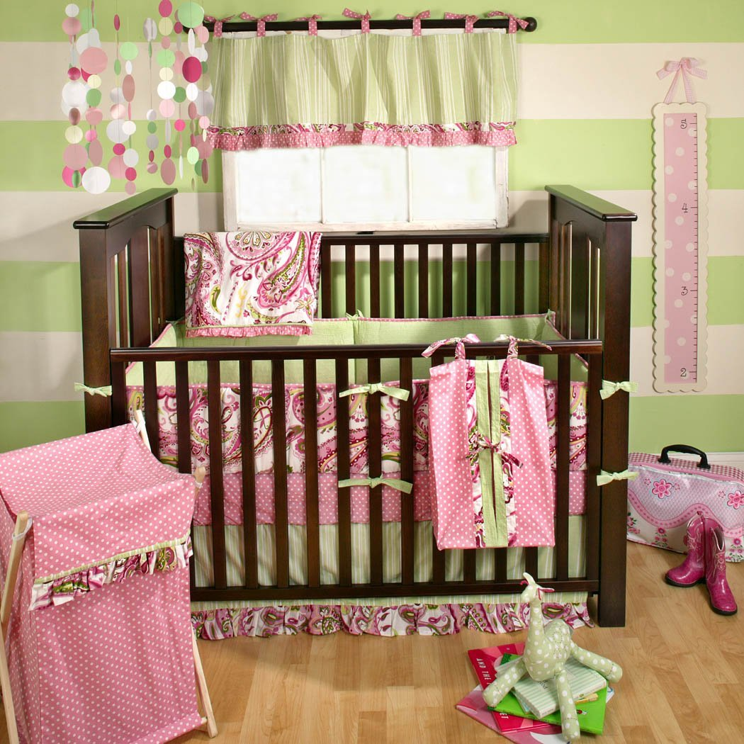My Baby Sam Paisley Splash In Pink Bedding Collection