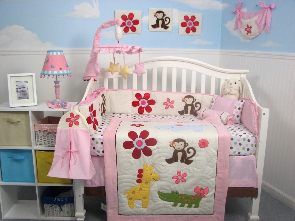 soho day at zoo crib bedding archives
