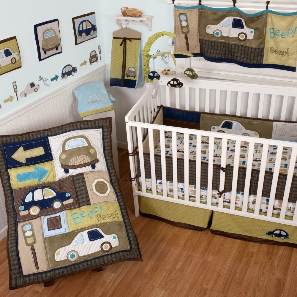 sumersault classic cars crib bedding baby bedding and