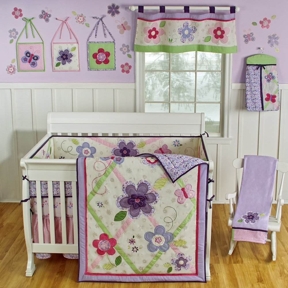 sumersault crib bedding lavender baby bedding and accessories
