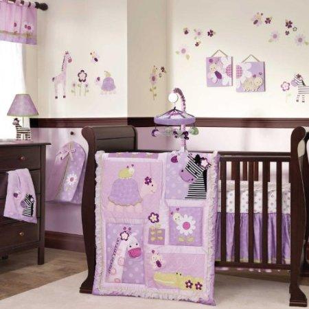 Lambs and ivy garden safari nursery collection baby bedding and accessories - Slaapkamer gordijn babymeisje ...