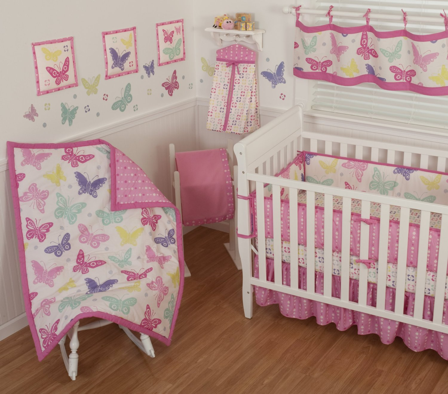 Sumersault Butterfly Block Baby Bedding - Baby Bedding and ...