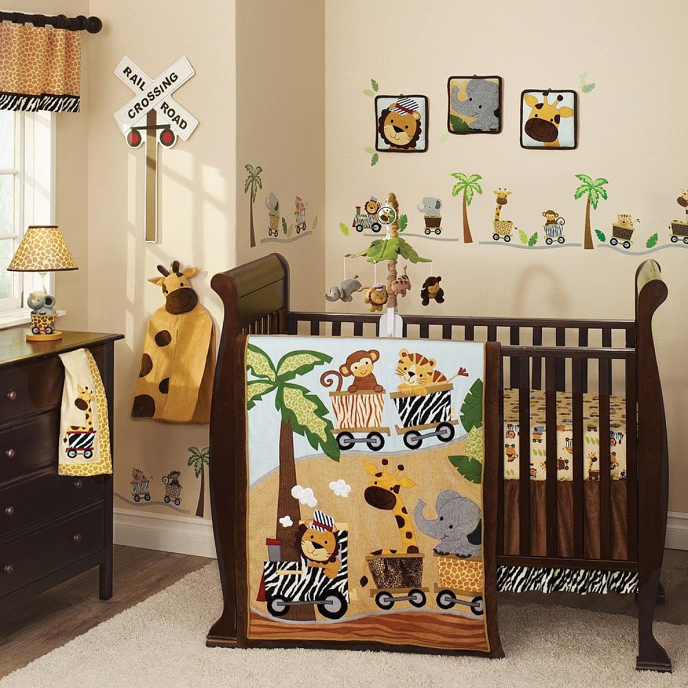 Lambs And Ivy Safari Express Baby Bedding