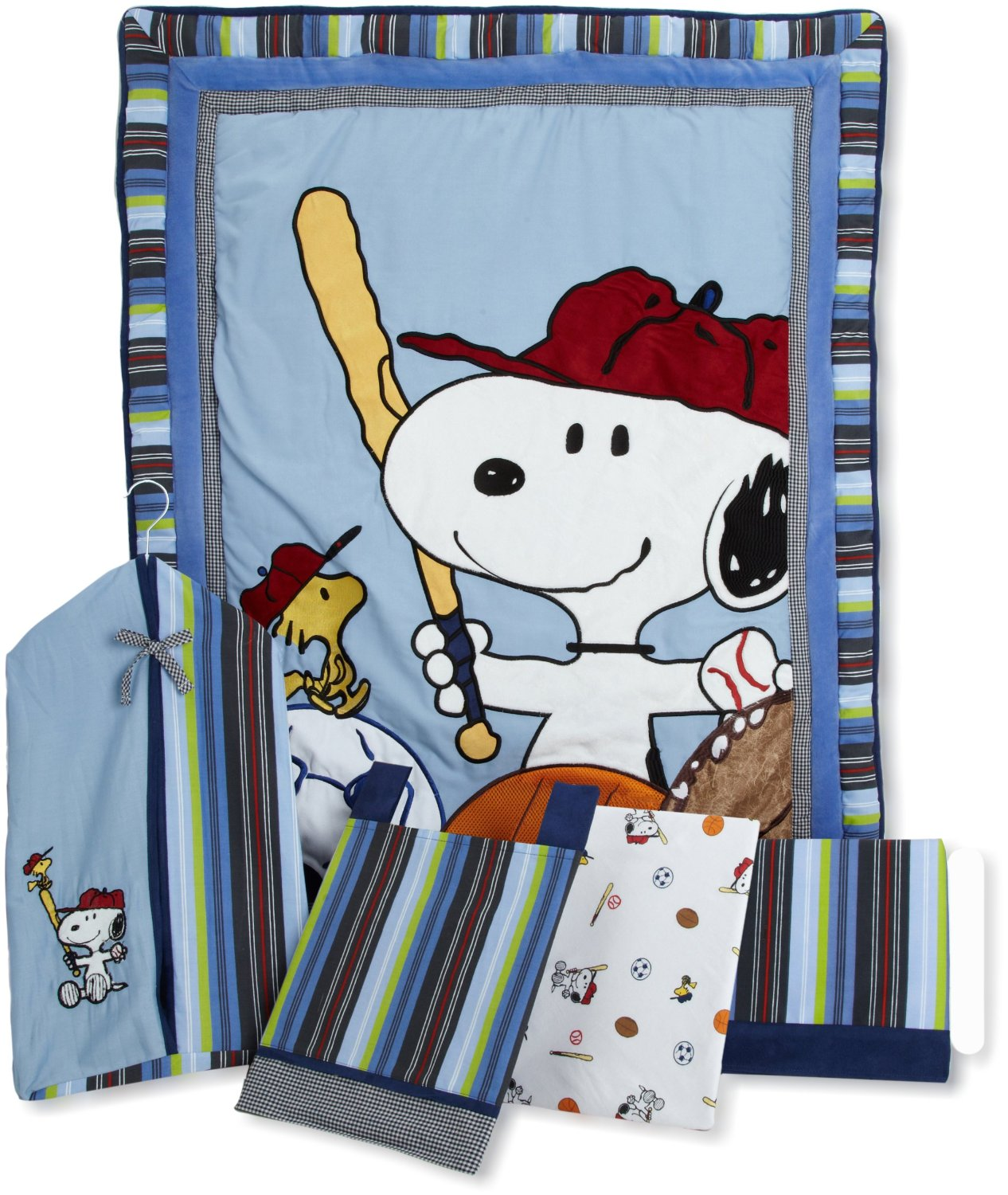 Lambs And Ivy Team Snoopy Baby Bedding