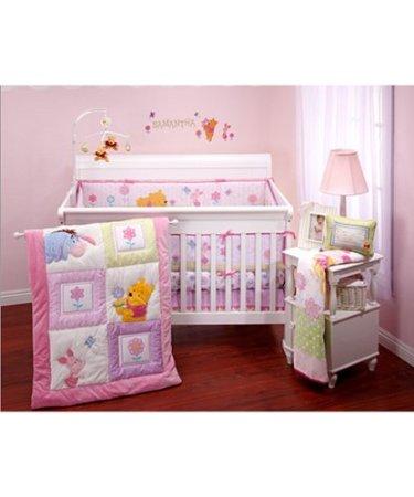 Winnie The Pooh Crib Bedding Sweet As, Pink Winnie The Pooh Baby Bedding