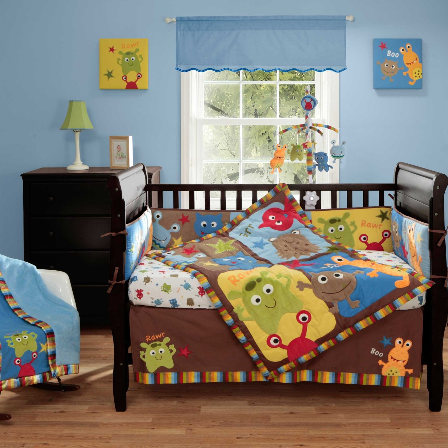Bananafish Baby Monster Baby Bedding and Decor - Baby