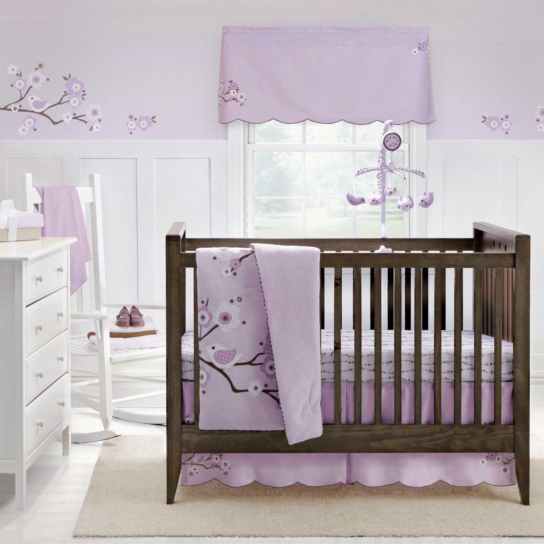 Migi Lilac Blossom Crib Bedding