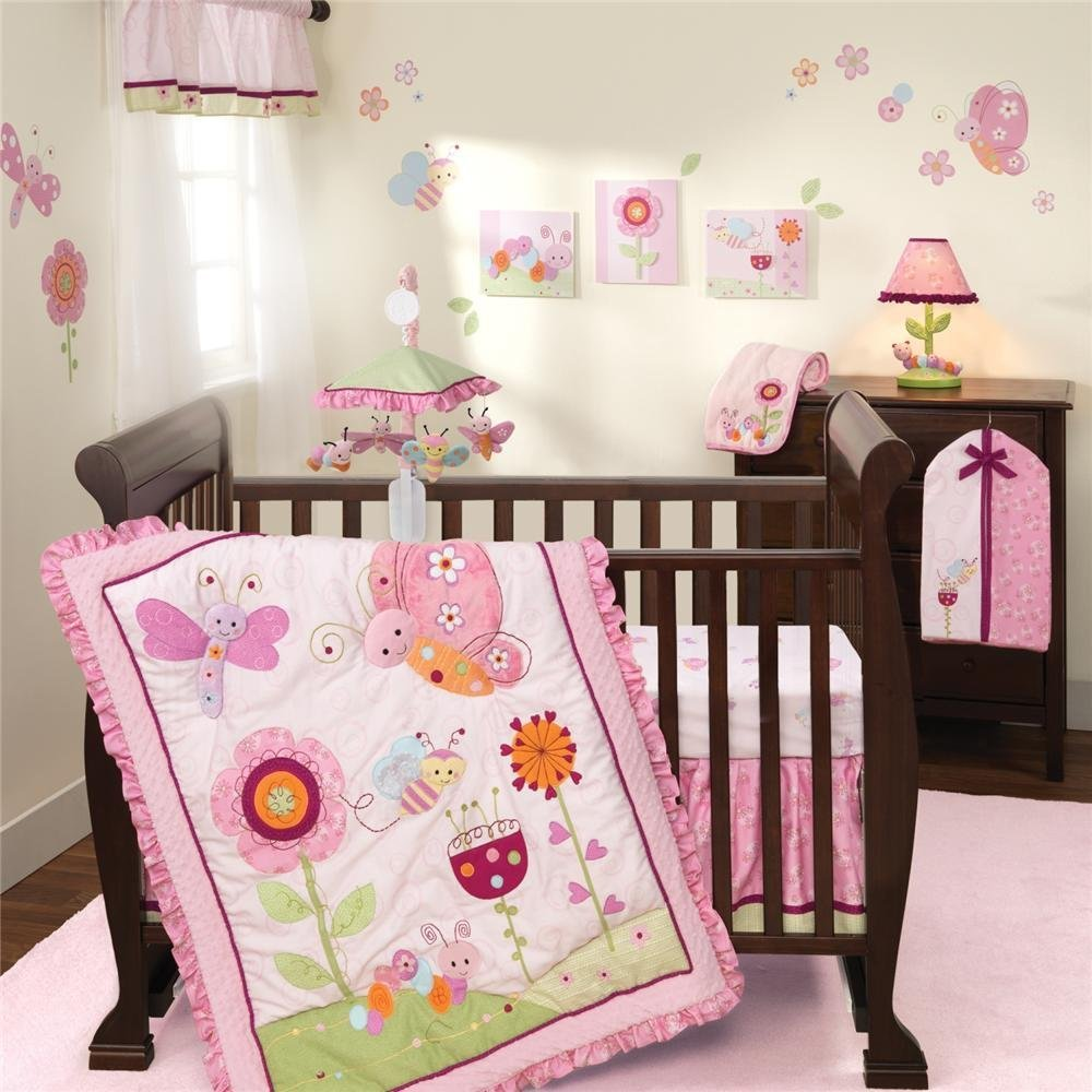 Lambs And Ivy Sunshine Garden Crib Bedding Collection