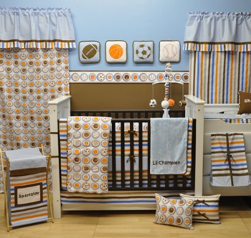 Transportation Blue 6pc Crib Set W//o Bumper Bacati