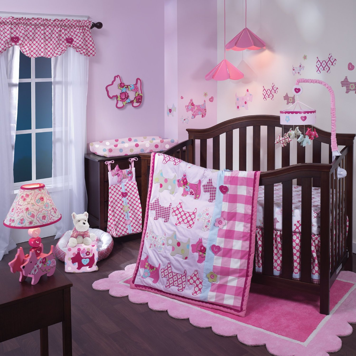 Lambs And Ivy Puppy Tales Baby Bedding Collection