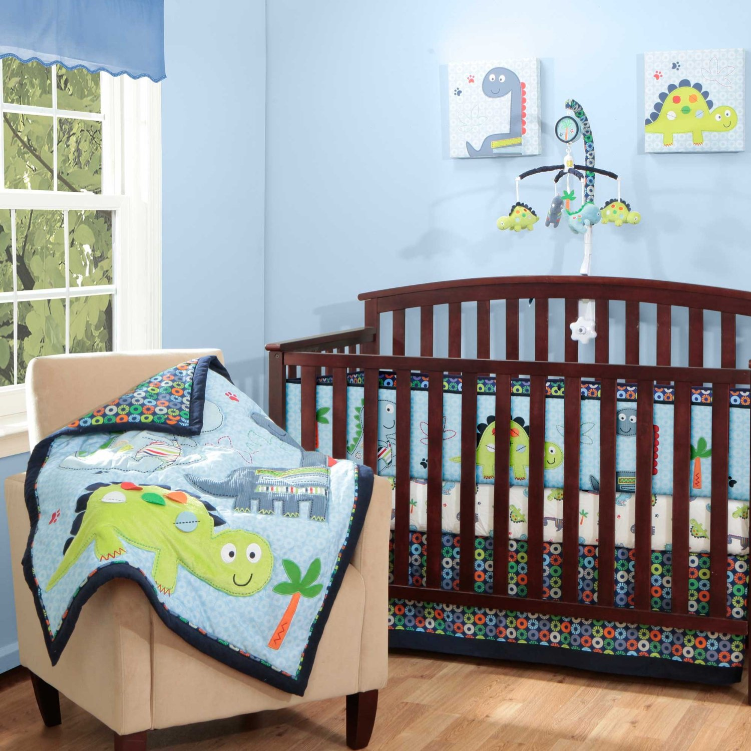 Adorable Dino Crib Bedding Set