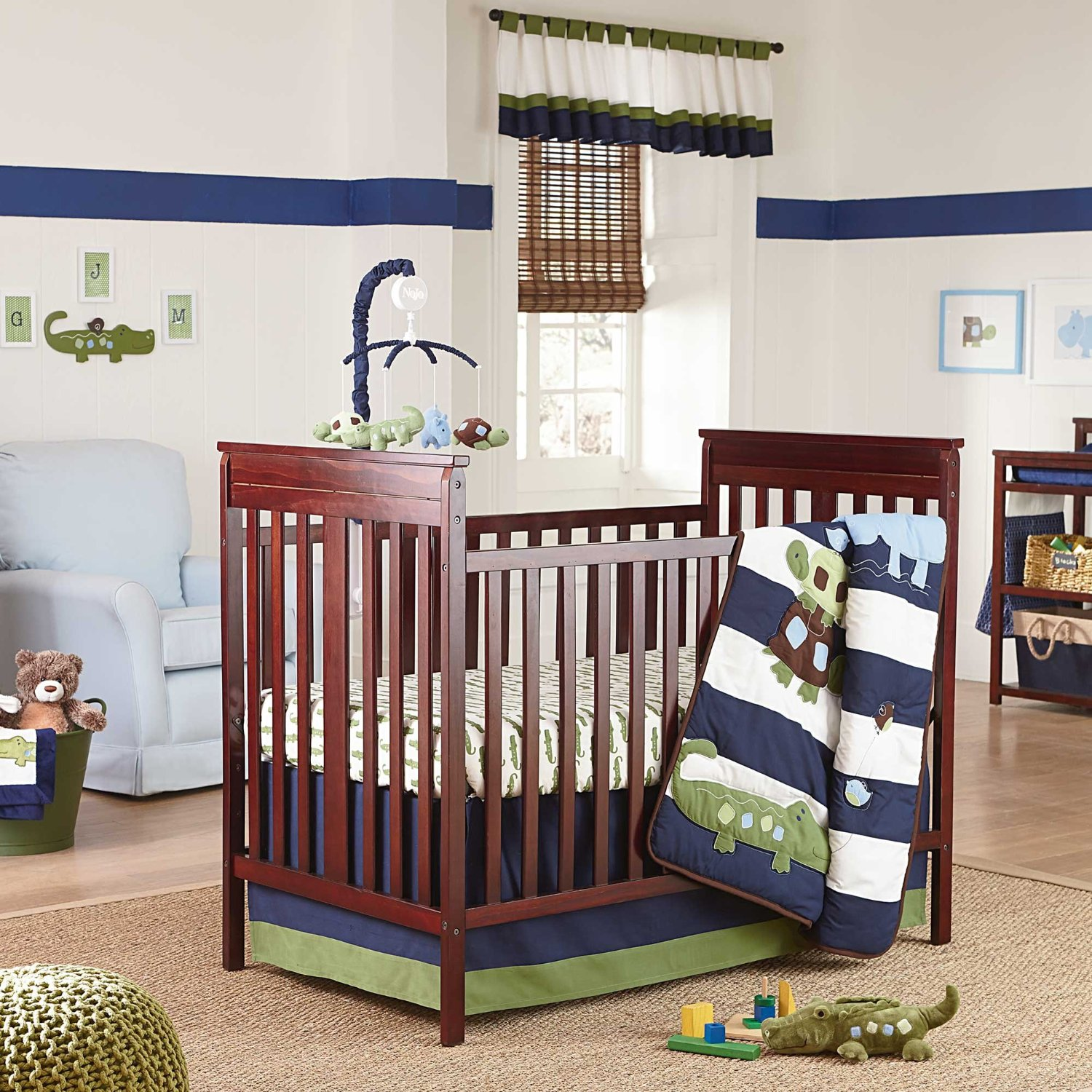 Nojo Alligator Blues Baby Bedding Collection
