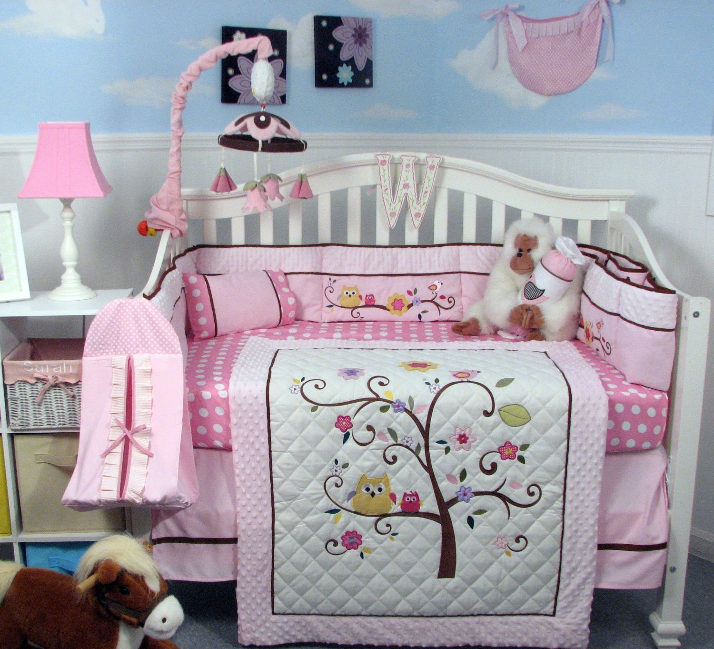 Soho Cherry Blossom Crib Bedding Collection Baby Bedding