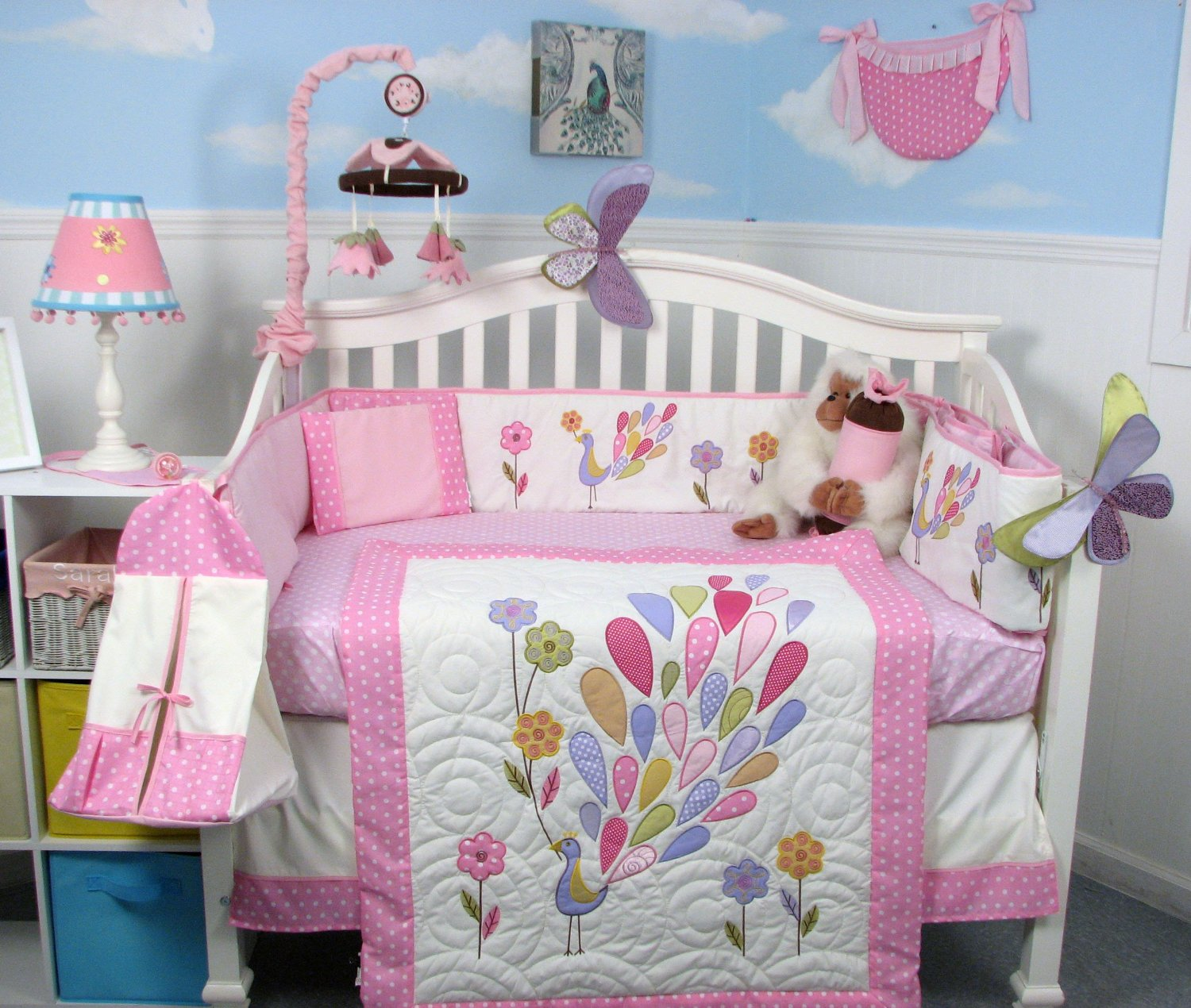 beautiful Peacock Baby Bedding Sets Part - 3: Soho Gloria the Peacock Crib Bedding Collection