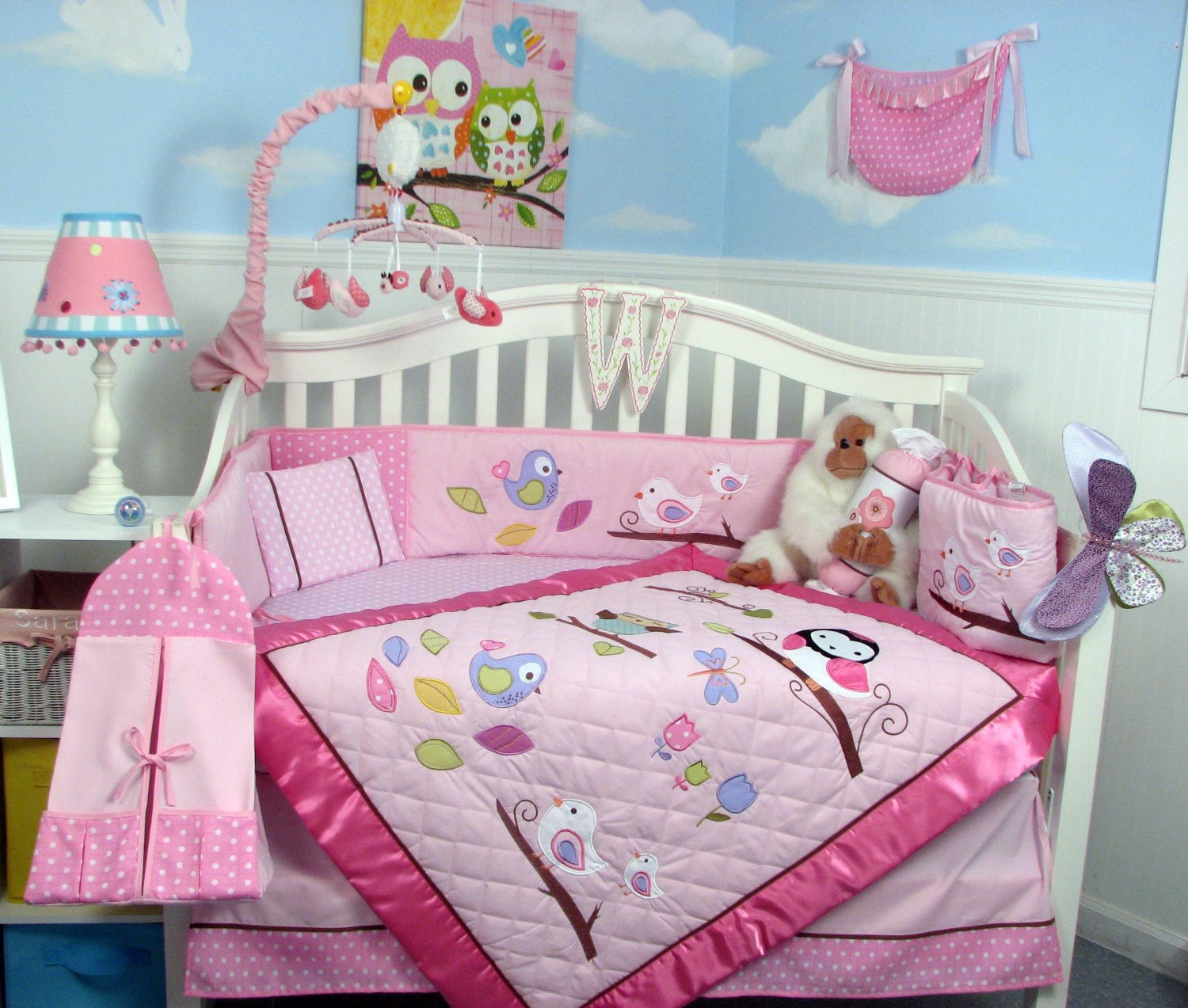 Soho Owls Meadowland Crib Bedding