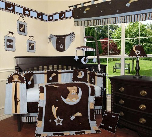 Sisi Blue Bear And Moon Baby Bedding Collection Baby