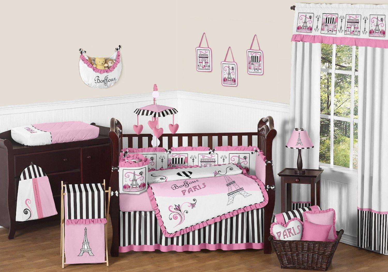 Sweet Jojo Designs Paris Crib Bedding And Decor