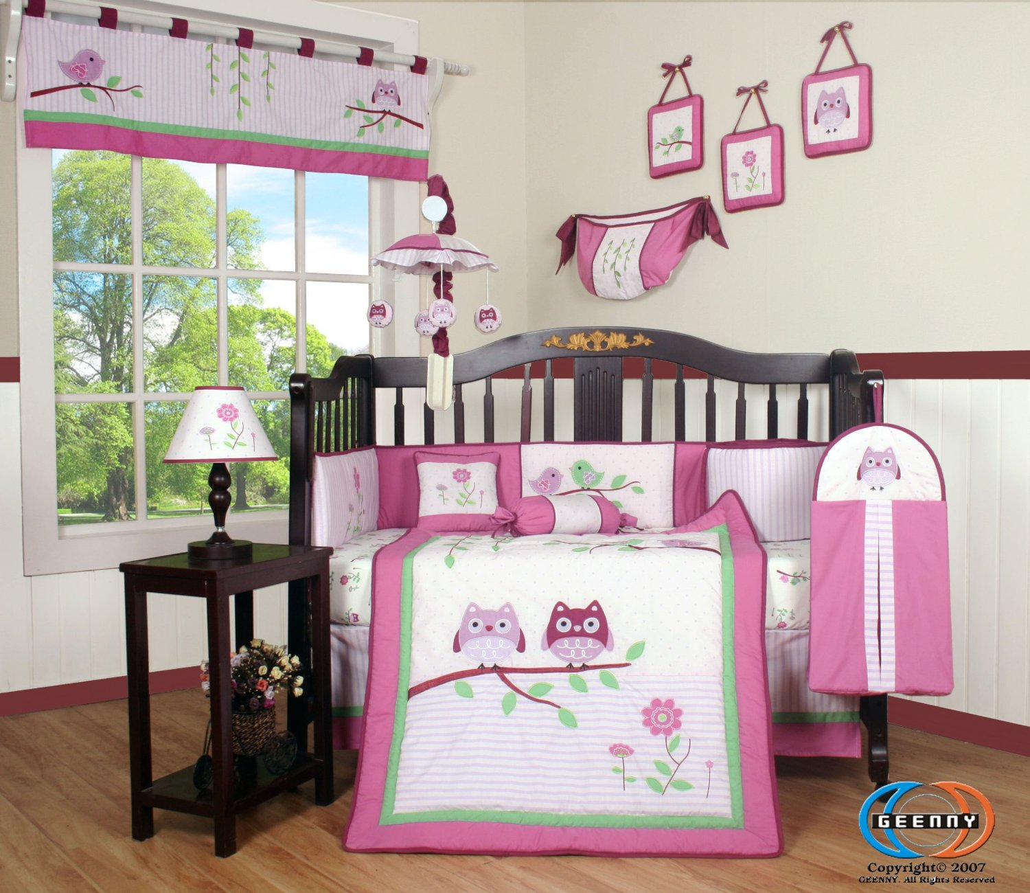 Geenny Boutique Pink Entranced Forest Baby Bedding Collection