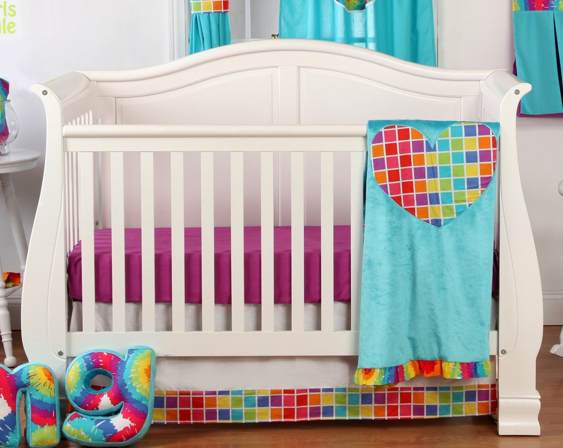 One Grace Place Terrific Tie Dye Crib Bedding And Decor