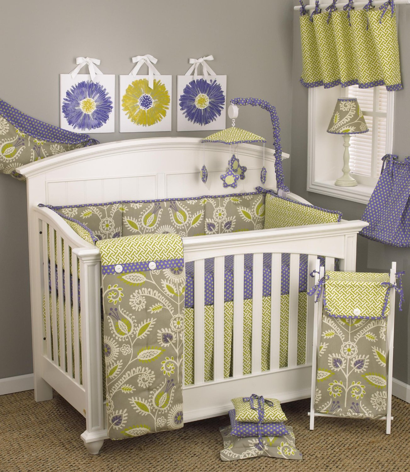 Cotton Tale Designs Periwinkle Crib Bedding Collection