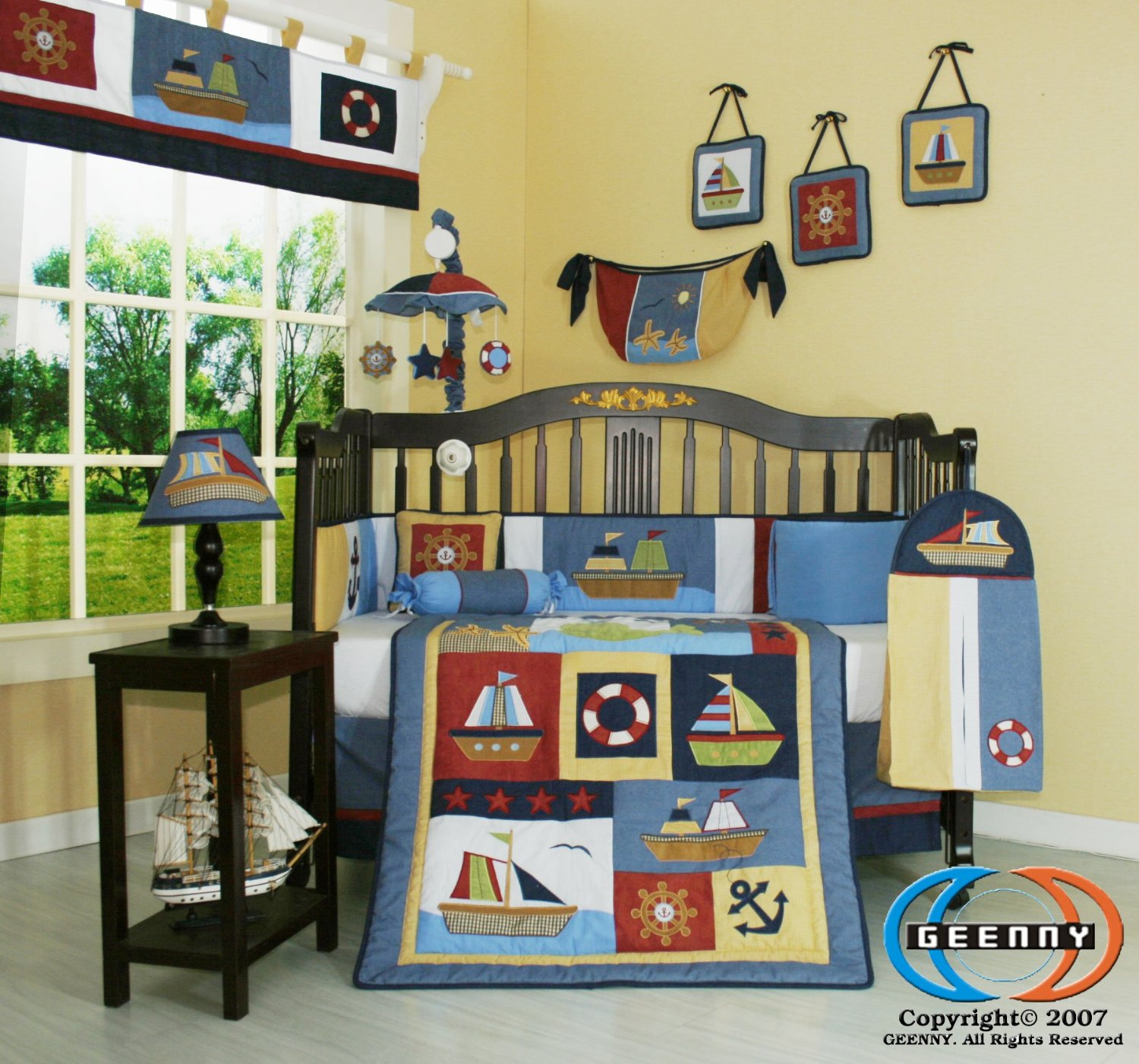 bedding sparky bedroom pc to kids nursery full way with bedtime cribs nautical boy originals baby crib bed s size your of set sheets themed decorate blue amazoncom fun