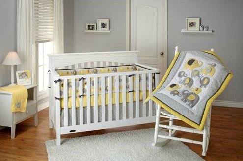 Nojo Little Bedding Elephant Time Yellow Baby