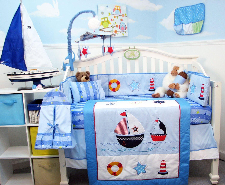 Soho Ship Ahoy Crib Bedding Collection